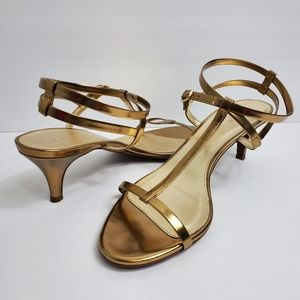 J. CREW Gold Strappy Sandals